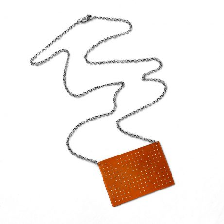 Connect Dots Necklace in Red Copper/ White