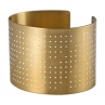 Connect the Dots Cuff in Golden Brass/White