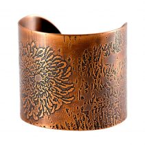 Digital Mum Cuff/Antique Copper