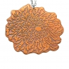 """Digital Mum Necklace/Flame Red Copper/26"""" Sterling Silver Chain"""