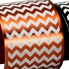 Detail of En ZigZag Cuff in Flame Red Copper/White