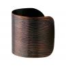 Faux Bois Cuff in Blackened Copper