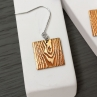 Off Cut Dangle Earring in Gold Tone Brass with Sterling Silver Ear Wire