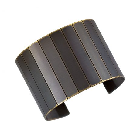 Facet Cuff/ Blackened Brass