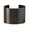 Facet Cuff in Blackened Copper