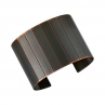 Facet Cuff/ Blackened Copper