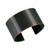Large Narrow Facet Cuff/ Blackened Copper