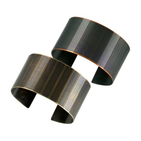 Large Narrow Facet Cuffs