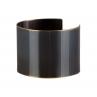 Petite Narrow Facet Cuff in Blackened Brass