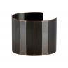 Petite Narrow Facet Cuff in Blackened Copper