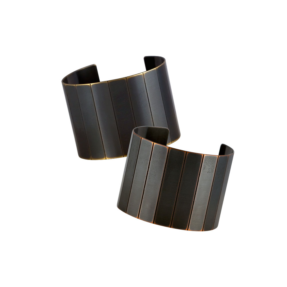 Small Narrow Facet Cuffs