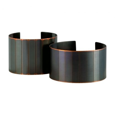 Standard and Narrow Facet Cuffs/ Blackened Copper