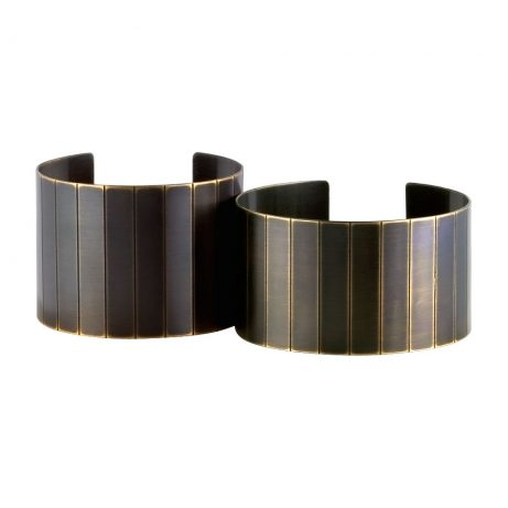 Standard and Narrow Facet Cuffs/ Blackened Brass