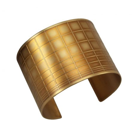 Gridded Cuff/ Golden Brass
