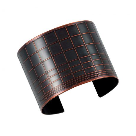 Gridded Cuff/ Blackened Copper