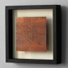 "Heurich House Boudoir Ceiling (2016) // Etched copper, patina // 6"" x 6"" (art only) // 10"" x 10"" x 1 ¾"" D (framed)"