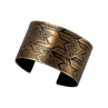 Asymmetrical Pattern Houndstooth Cuff/Antique Brass Finish