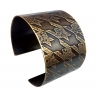 Small Pattern Houndstooth Cuff/Narrow Width/Antique Brass Finish