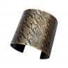 Small Pattern Houndstooth Cuff/Wide Width/Antique Brass Finish