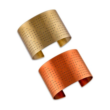 Ink Dots Cuffs/ Golden Brass or Red Copper