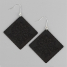 Lacy Diamond Earrings in Blackened Brass