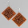 Lacy Diamond Earrings in Antique Copper