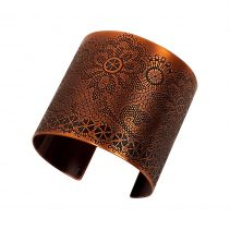 Lacy Cuff in Antique Copper