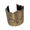 Lacy Cuff in Antique Brass with hand-cut edge