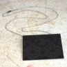 Lacy Necklace in Blackened Brass with sterling silver chain