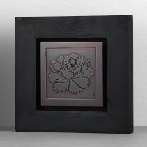Peony (2016) // Etched copper, patina