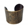 Better to Burn Out Cuff in Antique Brass