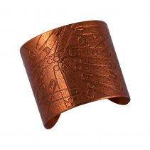 Better to Burn Out Cuff/ Flame Red Copper