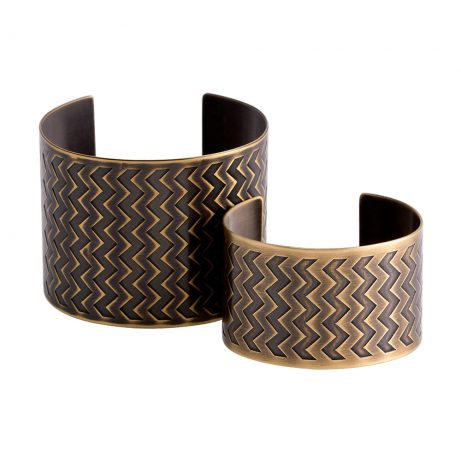En ZigZag Cuffs/ Antique Brass