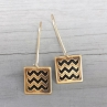 En ZigZag Earrings in Antique Brass