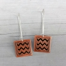 En ZigZag Earrings in Antique Copper