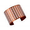 En ZigZag Cuff in Flame Red Copper/White