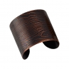 Faux Bois Cuff in Blackened Copper