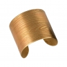 Faux Bois Cuff in Golden Brass