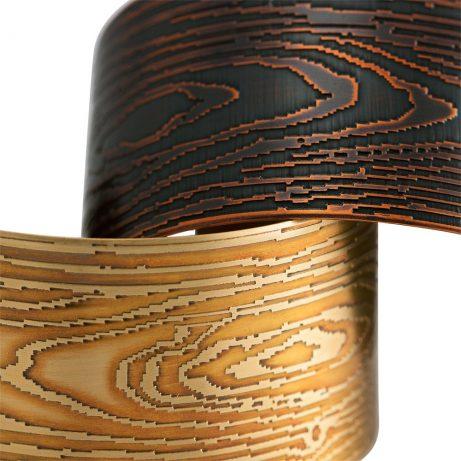 Detail of Faux Bois Cuffs